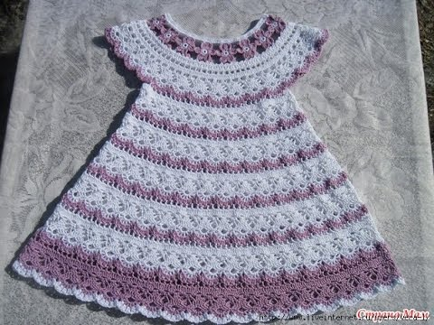 Crochet Patterns for free Crochet Baby dress 569 - YouTube