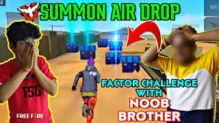 FACTORY ROOF CHALLENGE WITH MY NOOB BROTHER || INSANE BOOYAH || BEST CRYING REACTION ||FREEFIRE