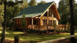 Custom Log Home With V-groove Design