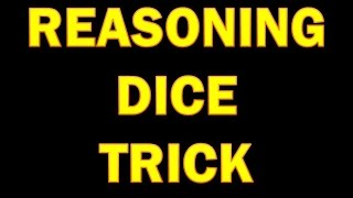 Reasoning Best Trick to Solve  DICE  for SSC CGL | RRB | PSC | IOF | all competitive  Exams