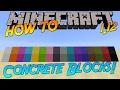 Minecraft 1.12 | How To: Craft Concrete & Concrete Powder Blocks!