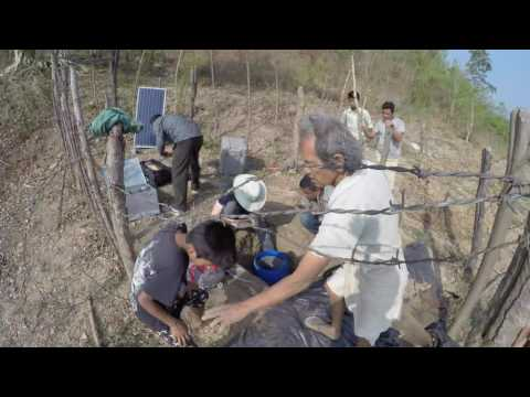 Demobilizing a seismic station in Nepal