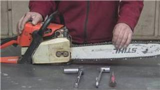 Carpentry & Saws : How to Maintain a Chainsaw