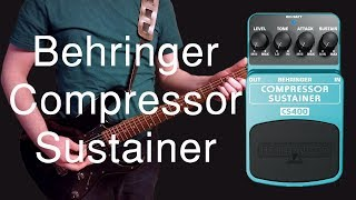 Behringer Compressor Sustainer CS400 Demo