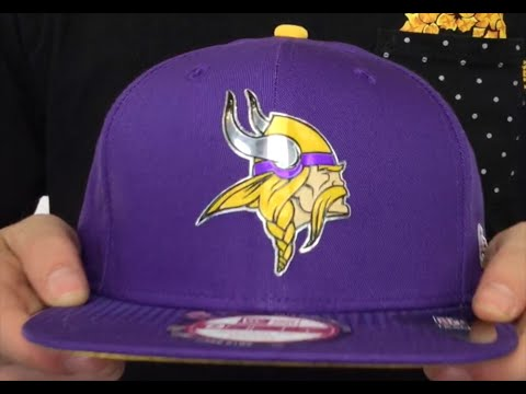 Vikings  2015 NFL DRAFT SNAPBACK  Purple Hat by New Era - YouTube be2725118