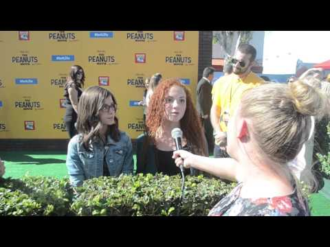 Madisyn Shipman and Venus Schultheis  at PEANUTS MOVIE Premiere