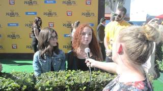Madisyn Shipman and Venus Schultheis Interview at PEANUTS MOVIE Premiere