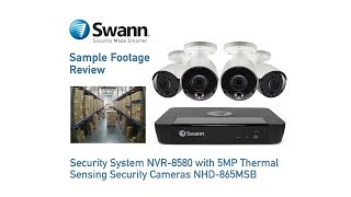 Swann 5MP SWNHD-865MSB Thermal Sensing True Detect PIR Bullet Security Camera video