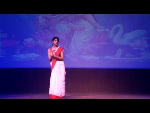 Girl  Dance performance on Maa Saraswati Vandana