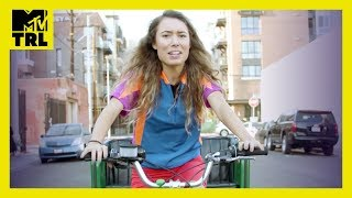 Kristen McAtee Tries Pedicab Tour Guide in Los Angeles | Tries It | TRL