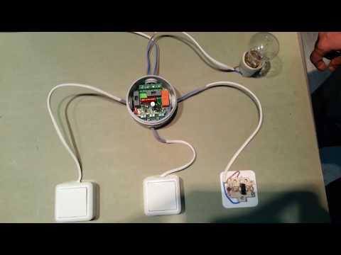 видео: Схема проходного выключателя из трех и более мест