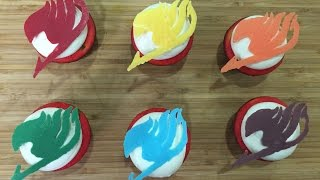 How to make Fairy Tail cupcakes فيري تيل كب كيك