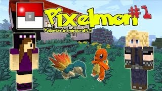 BF & GF Start Their Pixelmon Journey!! - Pixelmon #1