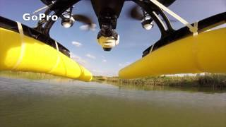 Yuneec Q500 on the Water - Wasserlandung/-start - no waterproof drone lands and starts on the water