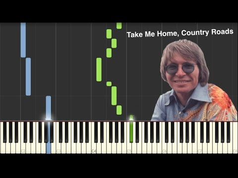 Take Me Home, Country Roads - John Denver - Piano Tutorial