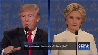 """Donald Trump: """"I will look at it at the time."""" (C-SPAN)"""