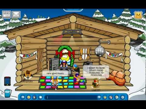 Rare Igloo Music Club Penguin