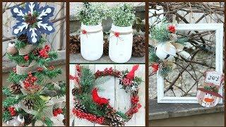 DOLLAR TREE RUSTIC WOODLAND CHRISTMAS DECOR 2017