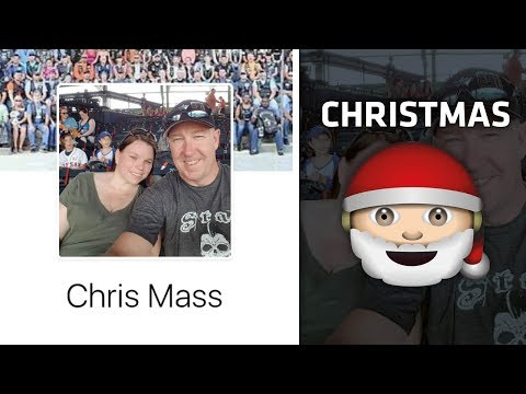 Facebook Names in Song Lyrics | CHRISTMAS SONGS