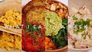 WHAT I EAT IN A WEEK | VEGAN COMFORT FOOD (Quarantine) #003