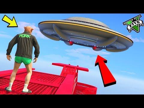 GTA 5 ONLINE 🐷 UFO PARKOUR PERICOLOSO !!! 🐷 GARE PARKOUR 🐷N*165🐷 GTA 5 ITA 🐷 DAJE !!!!!!