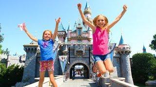 Amelia, Avelina and Akim adventure to Disneyland using a magic stick