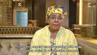 Mme Aïssata Issoufou montre comment bien se laver les mains