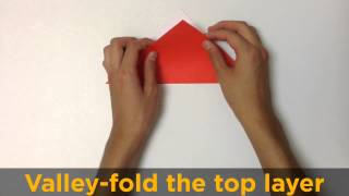 Origami Easy Movie.  An Origami Arrow Instruction Movie Wit