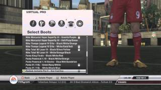 Fifa 12 - All Boots For Virtual Pro's