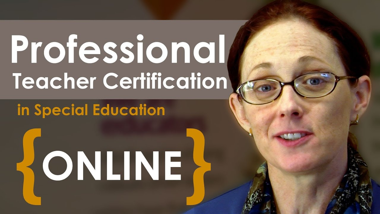 Earn Professional Teacher Certification Online - YouTube