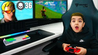 My Little Brother Plays Fortnite On Tfues Account! (LITTLE KID TURNS INTO TFUE!)