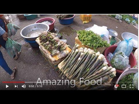 Laos Pakse, Dao Heuang Market , Laos Local food