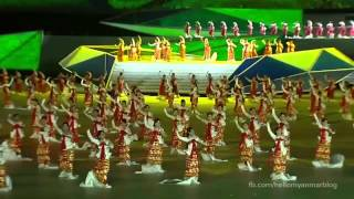 Myanmar Traditional Dance in 27th SEA Games 2013