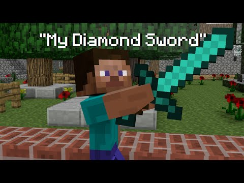 "♬ ""MY DIAMOND SWORD"" - MINECRAFT PARODY OF ""DEMONS"" BY IMAGINE DRAGONS ♬"
