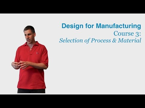 Design for Manufacturing Course 3: Selection of Process and Material - DragonInnovation.com