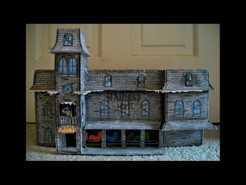 Papercraft Paper Model of the Haunted Hotel Attraction from the Myrtle Beach Pavilion