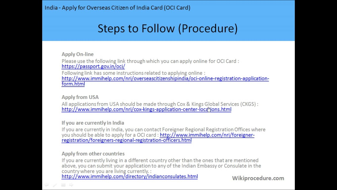 India apply for overseas citizen of india card oci card youtube india apply for overseas citizen of india card oci card falaconquin