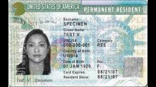 Америка: Грин карта США - green card - статус постоянного жителя - гражданство США