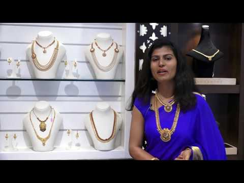 Beautiful Gold Light weight necklace sets for daily use | Bangalore