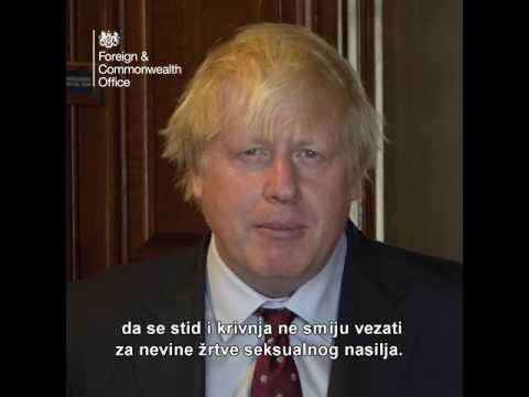 Video message presented by UK Secretary of State for Foreign and Commonwealth Affairs Boris Johnson