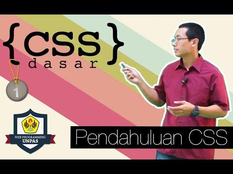 CSS Dasar - 1 - Pendahuluan