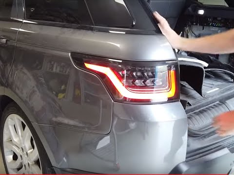 How To Upgrade Range Rover Sport L494 & SVR Rear Lights To 2018 Style Tail Lamps.