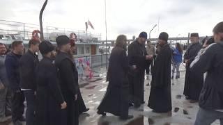 """Корабль-Церковь """"Св. ап. Андрей Первозванный"""" вернулся из плавания"""