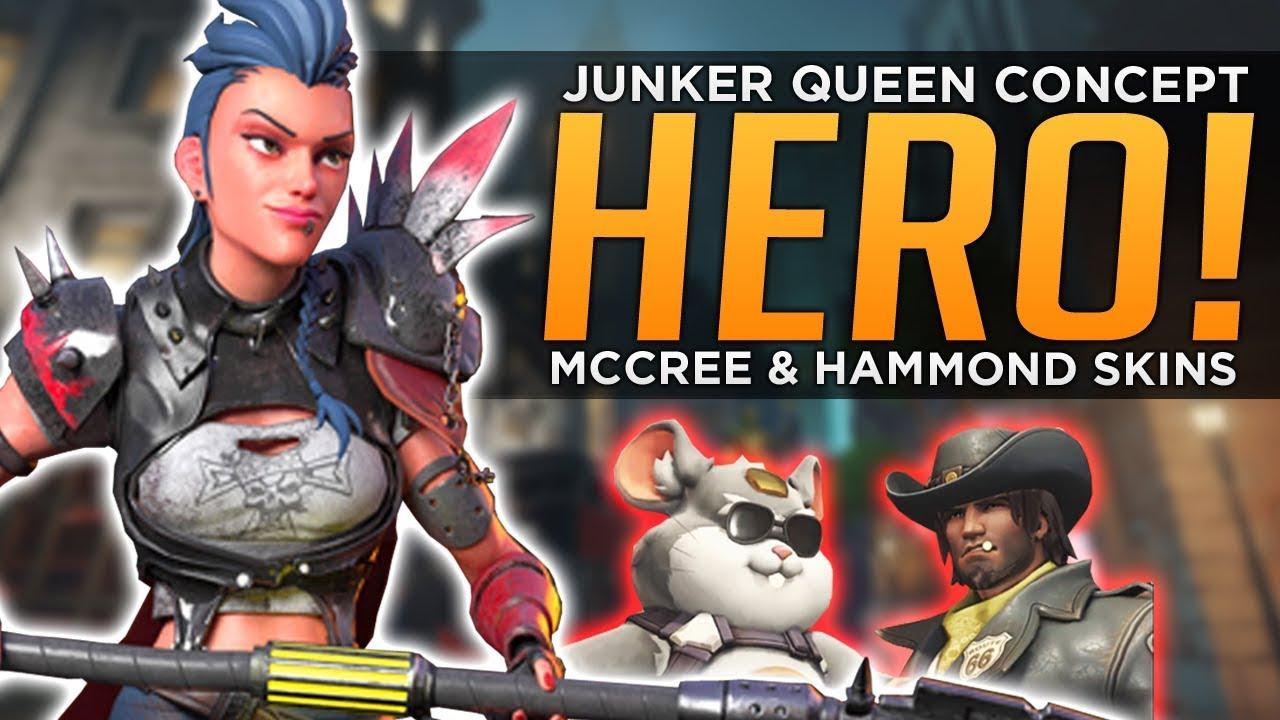 Download Overwatch: NEW McCree & Wrecking Ball SKINS! - Junker Queen Hero Concept!