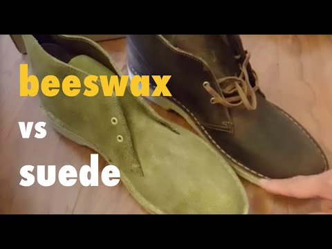 7d11c3d0b003 Comparing Clarks Desert Boots Beeswax unboxing vs Suede - YouTube