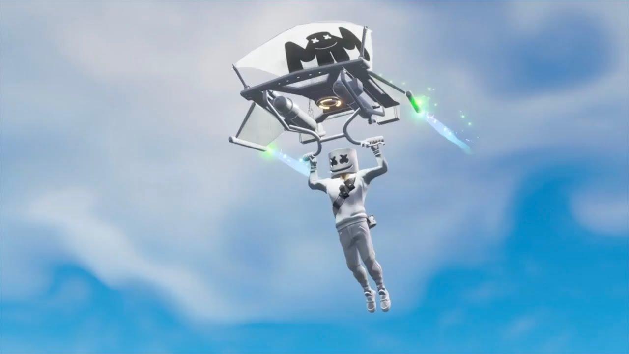 Marshmello Plays Fortnite In Marshmello Skin Battle Royale