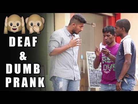 Acting Deaf & Dumb Prank – Funny Prank | Pranks In India