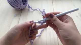 Вязаная корзинка крючком из трикотажной пряжи  Урок-1 Магическая(скользящая) петля