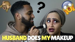 HUSBAND DOES MY MAKE UP CHALLENGE!!!