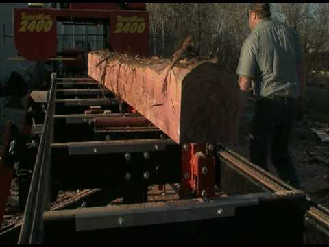 TimberKing Portable Sawmill Model 2400 Up Close - YouTube